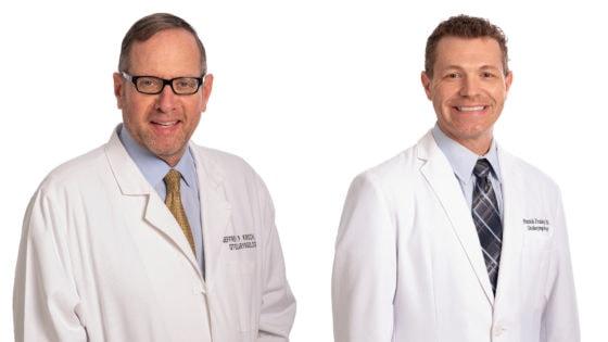 Jeffrey P. Kirsch, M.D., left, and Patrick L. Fraley, M.D.