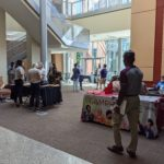 Campus representatives from areas including the UAMS Library, Student Financial Services, the Student Success Center and the Graduate Student Association visited with the new students at various tables during a recent 90-minute fair.