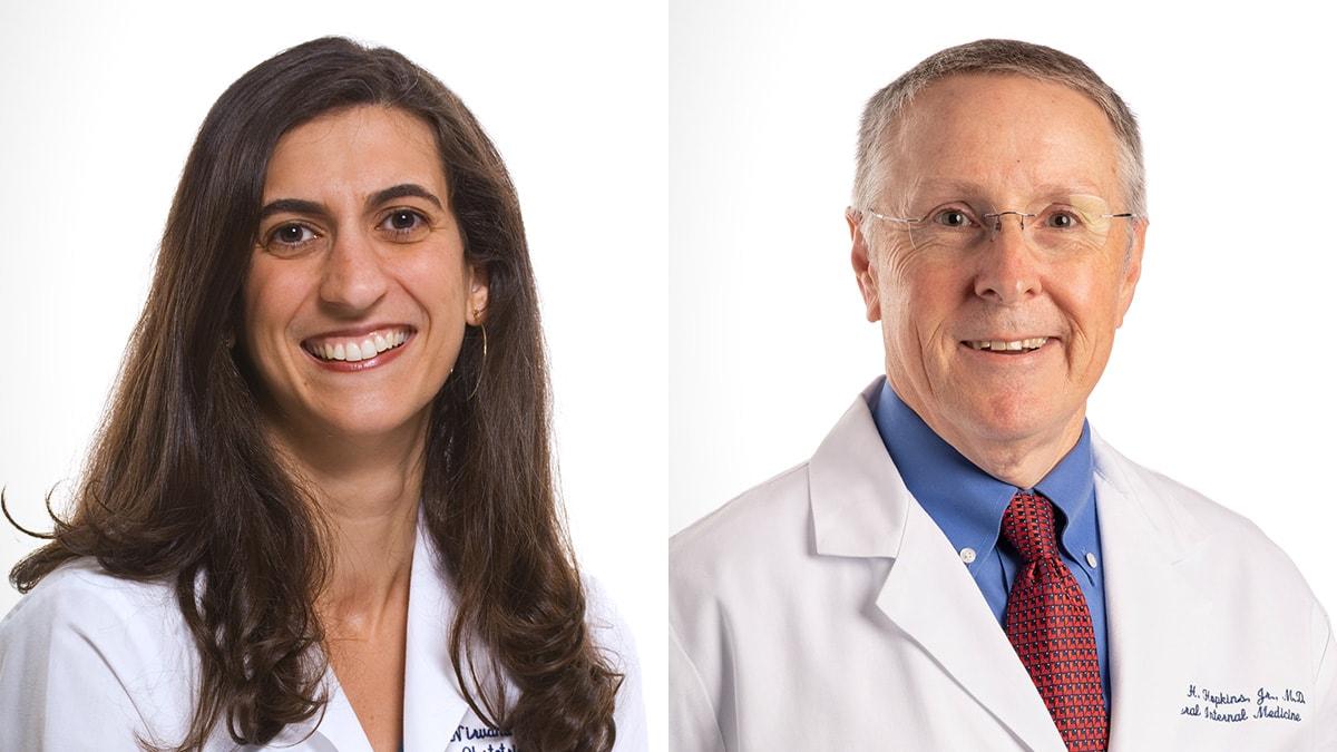 UAMS physicians Nirvana Manning, M.D., and Robert Hopkins Jr., M.D.