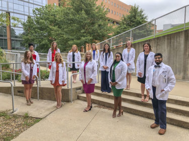Members of the Doctor of Audiology (Au.D.) Class of 2025 also received their white coats.
