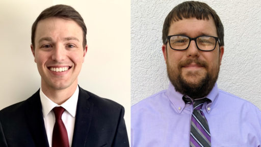 The Hicks scholarships have helped countless UAMS College of Medicine graduates, including Reid Counce, M.D. (left) and Richard Dean Turbeville Jr., M.D., pursue medical careers. Counce, of Crocketts Bluff, is a medicine pediatrics resident with UAMS. Turbeville is a family medicine doctor with Mercy Hospital in Berryville.