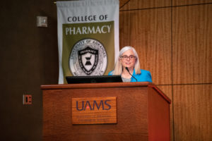 College of Pharmacy Dean Cindy Stowe, Pharm.D., urges the Class of 2025 to embrace each day in the program.