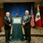 Jose Romero, M.D., (left) received the Ohtli Award from Rodolfo Quilantan Arenas (right) from the Mexican Consulate in Little Rock. The Ohtli Award is the highest award given by the Mexican Secretariat of Foreign Affairs to persons residing outside of Mexico.